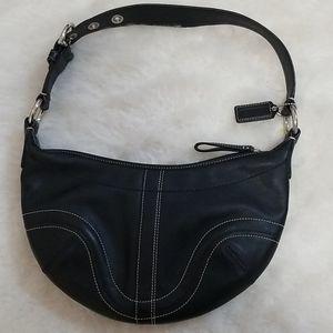 ❣ coach classic black leather hobo should handbag